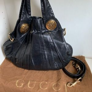 Gucci lambskin hobo bag